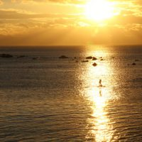 葉山の夕陽