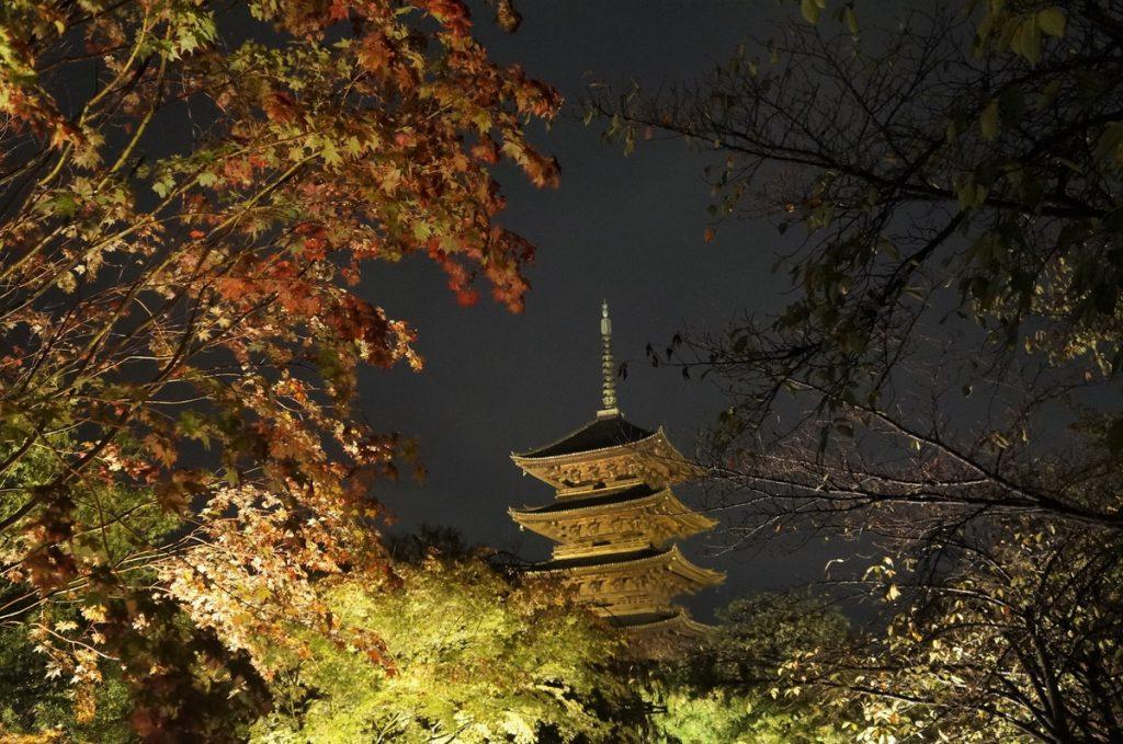 京都の五重塔